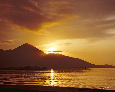 CP0196 - November Sunset,Croagh Patrick